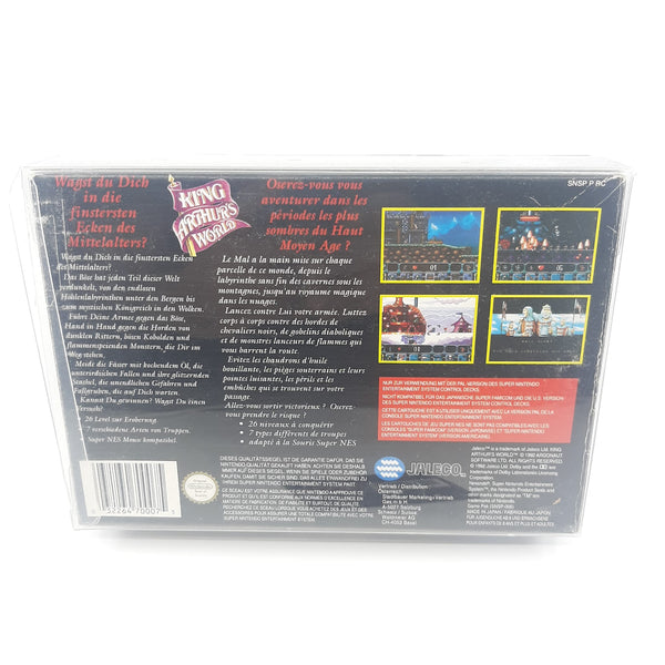 Jeu Super Nintendo King Arthur's World full set notice