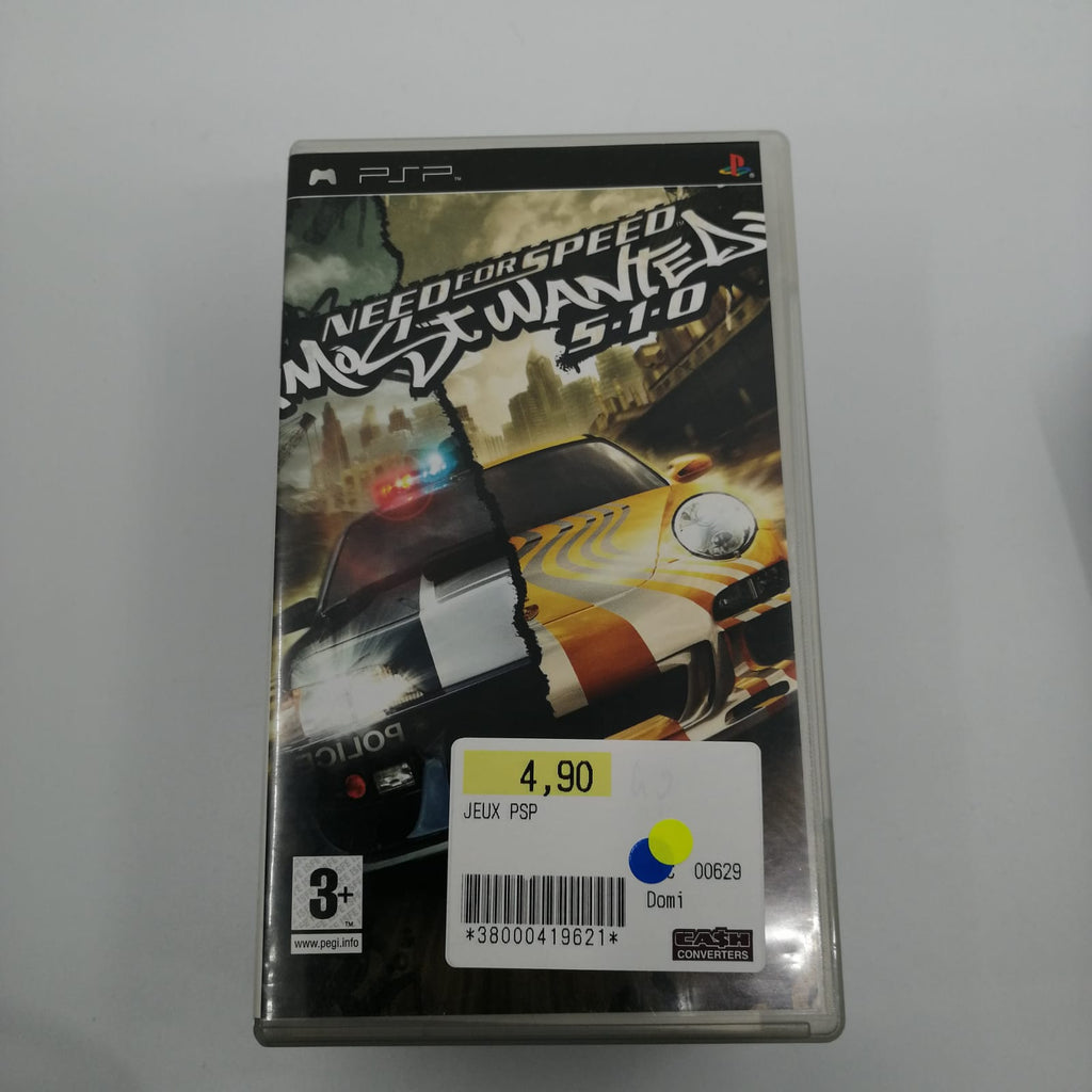 Jeux psp Need for speed most wanted 510