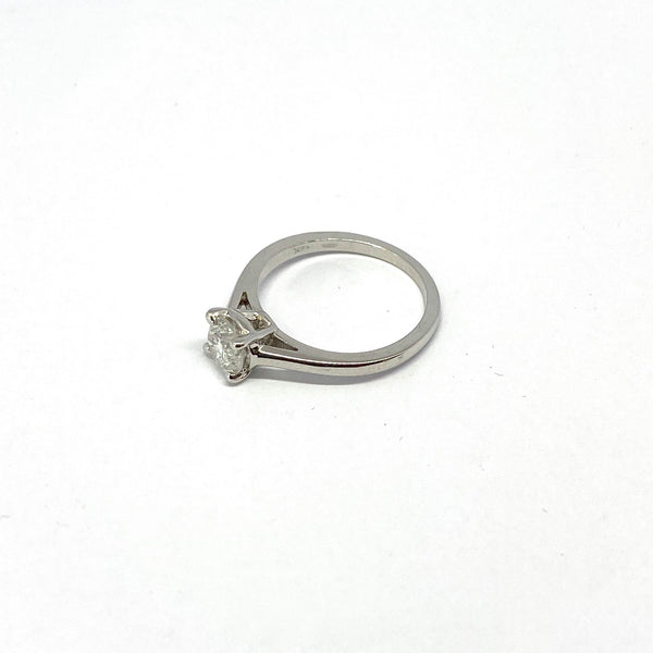 Bague solitaire Or blanc 14K
