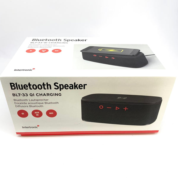Enceinte Bluetooth & Chargeur à induction Intertronic BLT-33