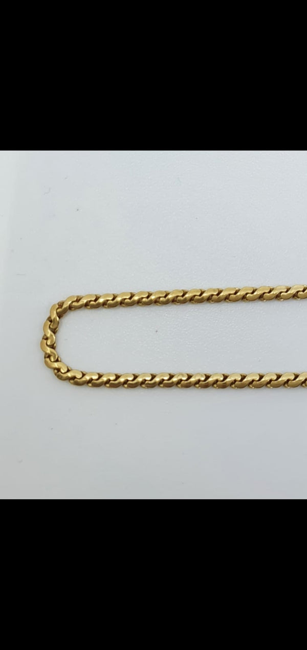 Collier Or 18k 10,85gr, taille 70