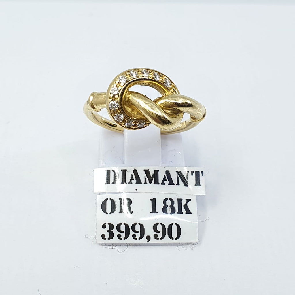 Bague Or 18k 6,01gr diamants taille 51