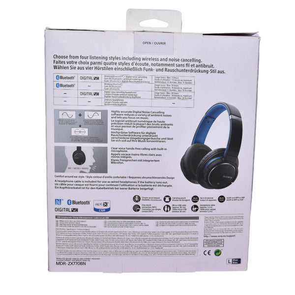Casque Bluetooth Sony Mdr-ZX770BN