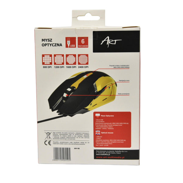 Souris Gaming filaire Art Usb Am-98