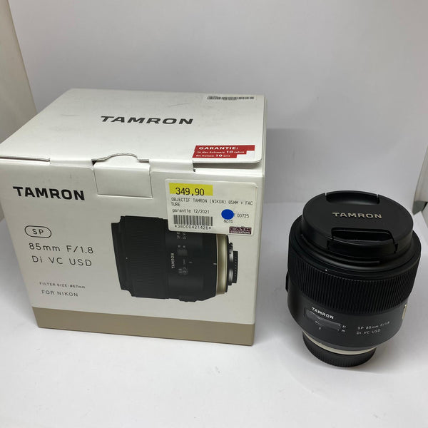 Objectif Tamron for Nikon 85mm F/1.8 filter size: 67mm