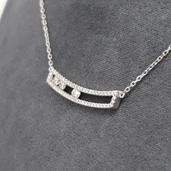 COLLIER OR BLANC ET DIAMANTS