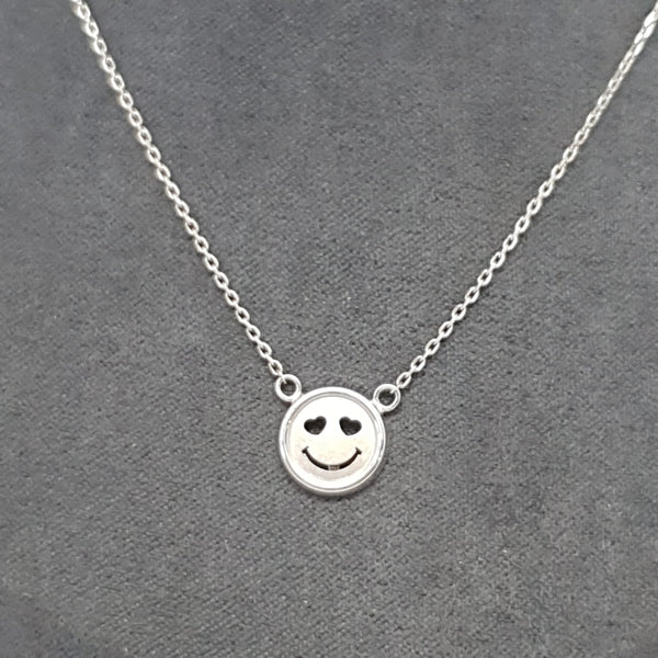 COLLIER SMILE, Or blanc 18k