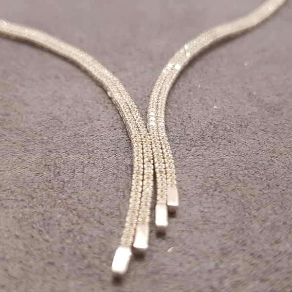 COLLIER PAVÉ,  Or blanc 18k