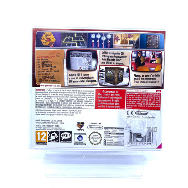 Jeu Nintendo 3DS James Noir's  Hollywood Crimes 3D