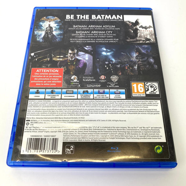 JEU PS4 BATMAN: RETURN TO ARKHAM