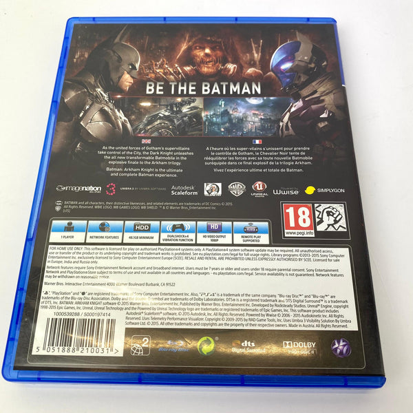 JEU PS4 BATMAN ARKHAM KNIGHT