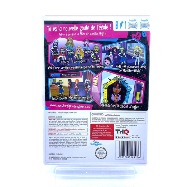 Jeu Wii Monster High Lycée d'enfer