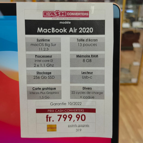 Apple Macbook Air 13' 2020 NEUF