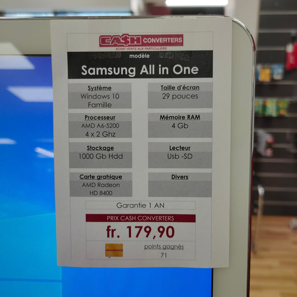 Ordinateur Samsung All in one