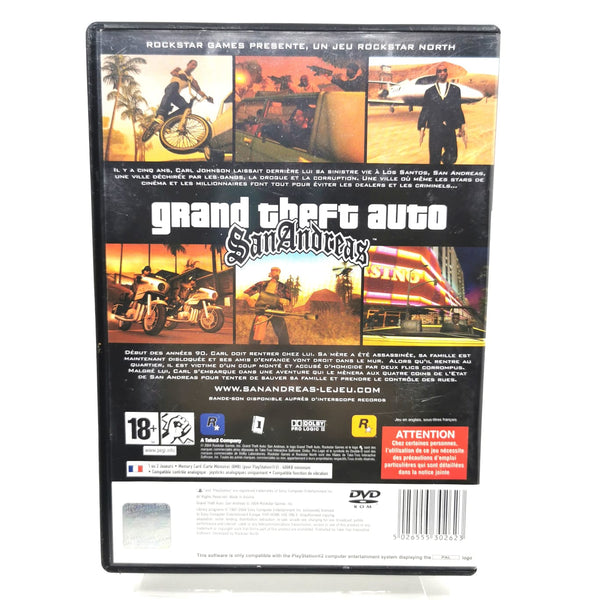 JEU PS2 - GRAND THEFT AUTO SAN ANDREAS