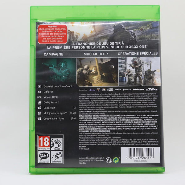 Jeu XBOX One Call of Duty Modern Warfare