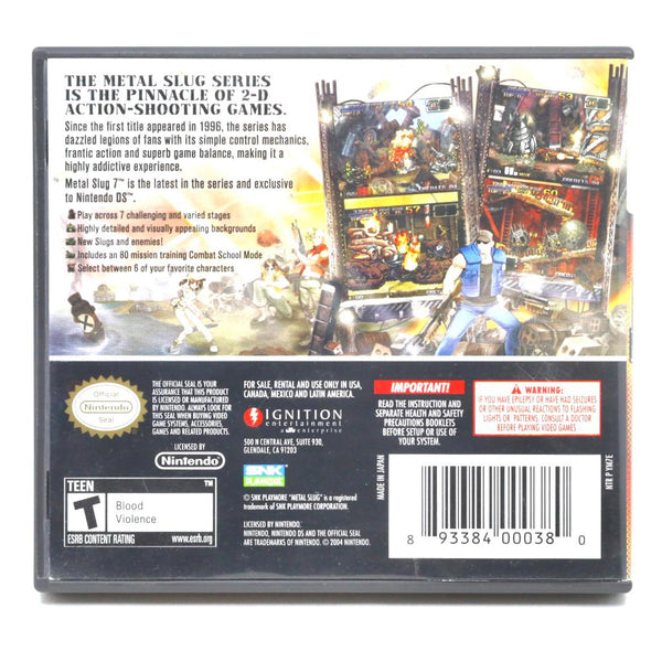 Jeu Nintendo 3DS Metal Slug 7 version US