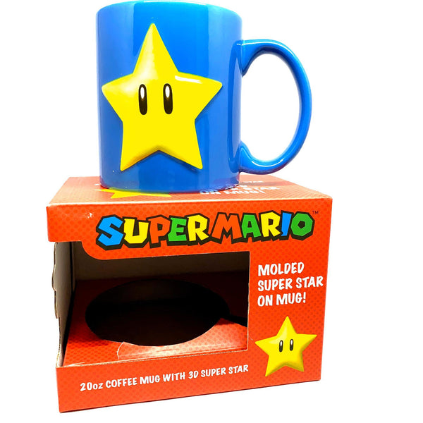 MOLDED SÚPER STAR ON MUG SUPER MARIO