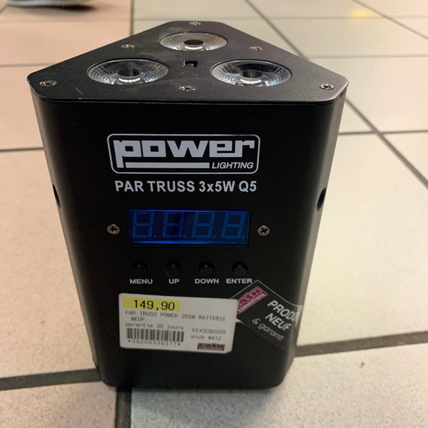 PAR TRUSS POWER 3X5W BATTERIE NEUF