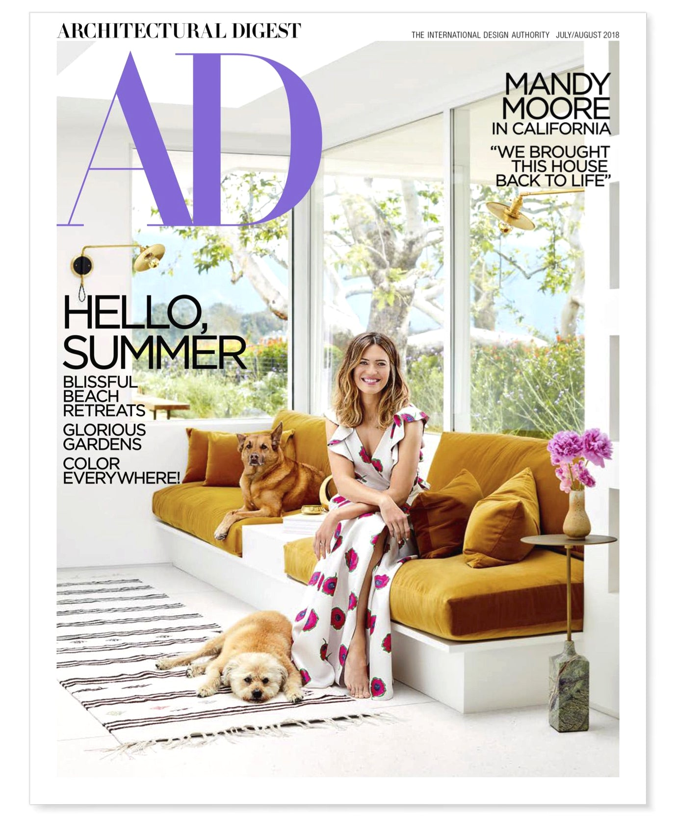 Photonic Studio Szabo Sconce on the cover of Architectural Digest, in the home of Mandy Moore.