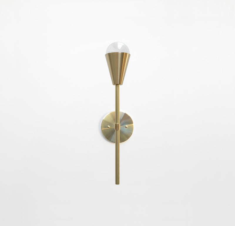 "Modern Brass Torchiere Wall Sconce. ""Beldar"" by Photonic Studio."