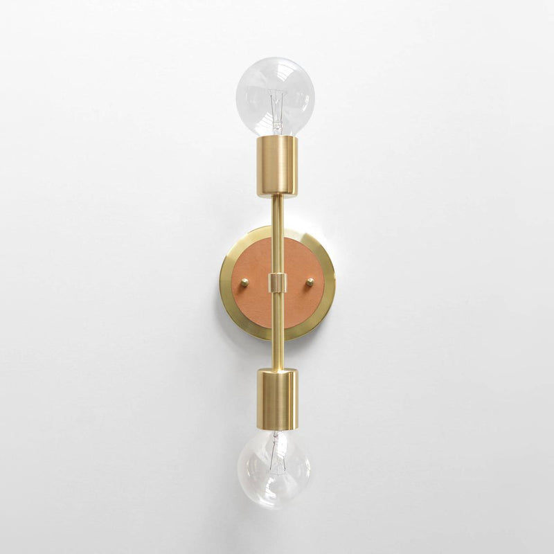 """Spiegel"" Sconce with Leather"