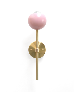 "Pink ""Tulip"" Sconce"