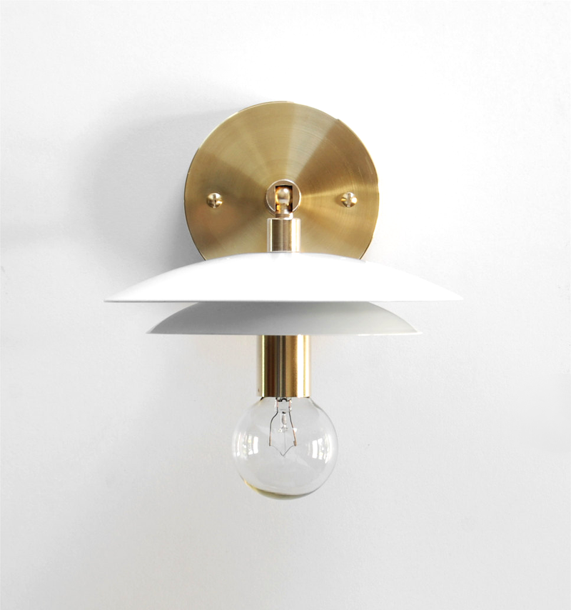 "White ""DUO"" Sconce"