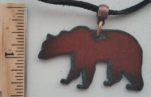 Grizzly Bear Unisex Suede Necklace