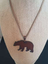 Load image into Gallery viewer, Grizzly Bear Unisex Suede Necklace
