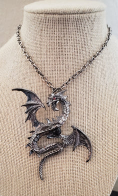 Flying Dragon Pendant Necklace