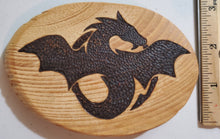 Load image into Gallery viewer, Wood Burnt Flying Dragon Magnet