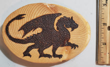 Load image into Gallery viewer, Walking Dragon Wood Burnt Magnet