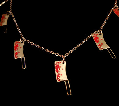 Butcher Knife Charm Necklace