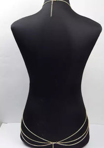 Unique Bohemian Style Waste Belly Neck Front Or Back Body Chain