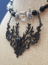 Load image into Gallery viewer, Memory Wire Choker Stag Deer 3D Necklace