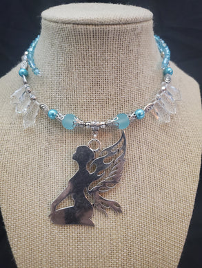 Memory Wire Fairy Teal Choker Necklace