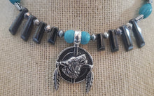 Load image into Gallery viewer, Memory Wire Wolf Choker Necklace