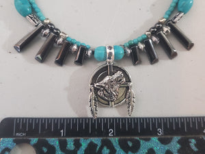 Memory Wire Wolf Choker Necklace