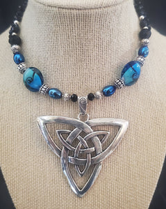 Memory Wire Celtic Knot Choker Necklace