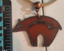 Load image into Gallery viewer, Metal Bear Pendant With Leather/Suede Necklace