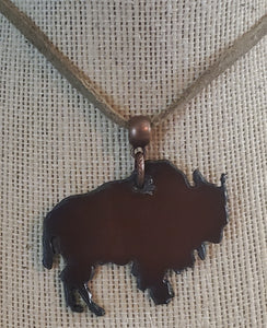 Copper Colored Buffalo Metal Necklace