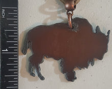 Load image into Gallery viewer, Copper Colored Buffalo Metal Necklace