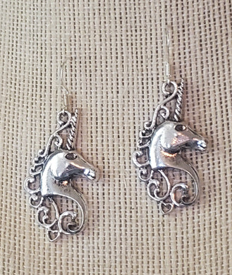Elegant Unicorn Head Earrings