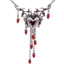 Load image into Gallery viewer, Bleeding Heart Skull Necklace