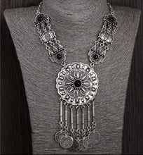 Load image into Gallery viewer, Gypsy Belly Dancing Silver Womens Necklace