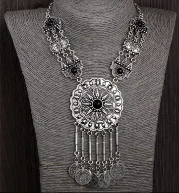 Gypsy Belly Dancing Silver Womens Necklace