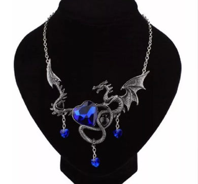 Large Dragon Pendant With Chain Necklace