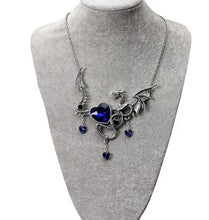 Load image into Gallery viewer, Large Dragon Pendant With Chain Necklace