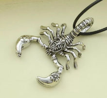 Load image into Gallery viewer, Mens Scorpian Pendant Necklace
